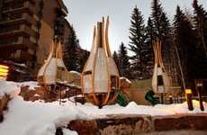 Cocoon-Like Playgrounds - The Vail Nest by tres birds workshop is an Artistic Jungle Gym