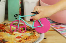 Bicycle Designed Pizza Cutters - These Pizza Cutters Take You Out for a Deliciously Cheesy Spin