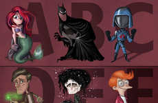 Pop Culture Alphabet Posters - The ABCs of Pop Culture Include All of the Fan Favorites