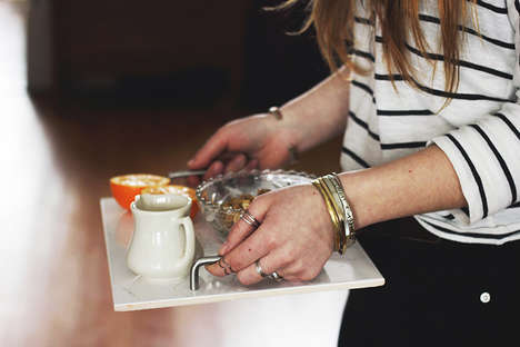 Sophisticated Food Servers - This Marble Serving Tray Adds Elegance to Carrying Meals