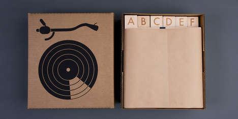 Wooden Vinyl Organizers