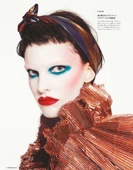 Clownish Spring Editorials - This Spring Editorial for Numero Tokyo Features Bright Face Paint