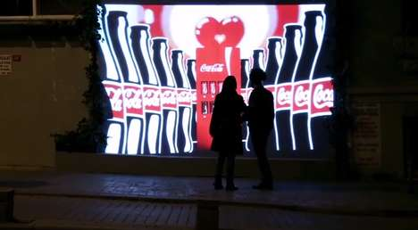 Couples Only Vending Machines - Coke's Invisible Vending Machine Doesn't Reveal Itself for Singles