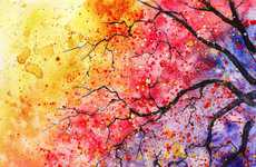 Watercolor Tree Paintings