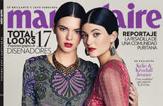 Elegant Sibling Editorials - The Marie Claire Mexico Photoshoot Stars Kendall and Kylie