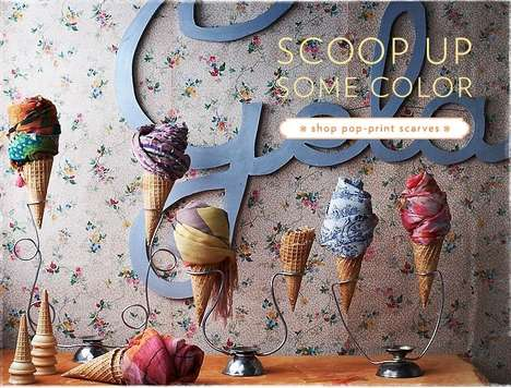 Dessert-Themed Scarf Displays - The Anthropologie Scarf Display Is Ready for Summer