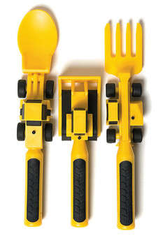 Truck-Hauling Utensils - This Set of Cute Cutlery Will Help Children Enjoy Finishing Their Meals