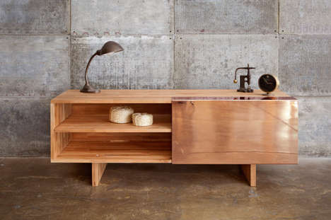 Modern Metal-Accented Sideboards