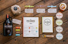 Vibrant Vintage Brewpub Branding - The Freehouse's Contemporary Brand Identity Gets It Just Right