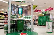 Virtual Beer Pouring Stations - Heineken's Virtual Draught Display Lets Beer Drinkers Get Electronic