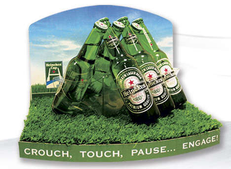 Rugby-Inspired Drink Displays