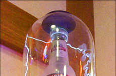 Electrifying Liquor Case Displays