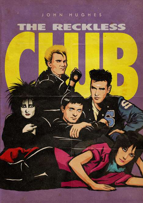 80s Cultural Icon Mashups - Butcher Billy's 'The Reckless Club' Project is Fantastic
