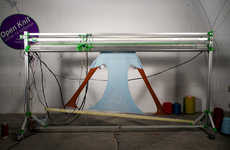 Textile 3D Printers - OpenKnit Printer by Gerard Rubio Makes Sweaters in Under an Hour
