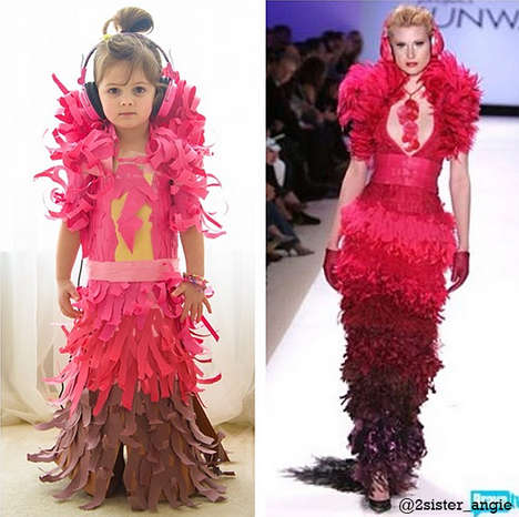 Toddler-Made Paper Dresses