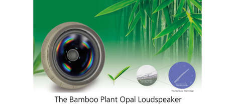 Bontanical Blasting Sound Systmes - The World's First Panasonic Plant Opal Loudspeaker is Coming Soo