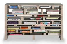 Haphazard Horizontal Shelves - Babel Storage System Invites You to Lay Books in Organized Chaos