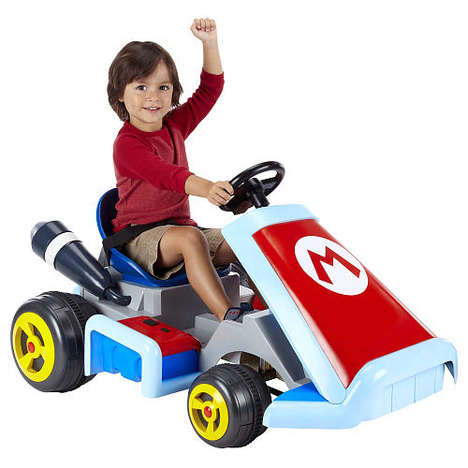 Nostalgic Animated Gaming Cars - This Drivable Super Mario Kart Toy is for Kids