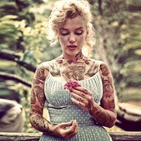 Tattoo-Covered Celeb Portraits
