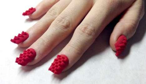 3D-Printed Fingernails