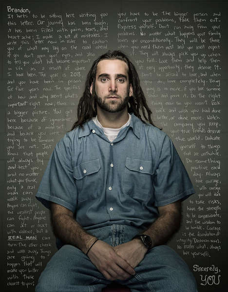 Thought-Provoking Prisoner Portraits - This Series by Trent Bell Features Prisoners Sharing Warnings
