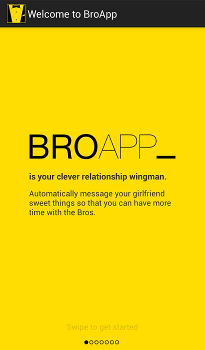 Automatic Girlfriend-Texting Apps - The BroApp Will Text Your Girlfriend For You