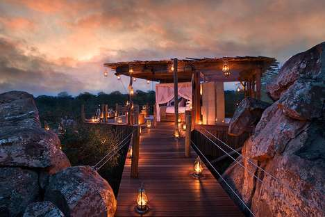 Luxurious Treehouse Resorts - The Lion Sands Game Reserve Provides Travellers With Luxury Rooms