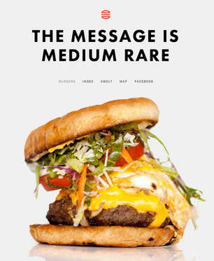 'The Message is Medium Rare' is a Design-Savvy Burger Blog
