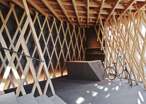 Cloud-Like Latticed Structures - SunnyHills is Encased in an Elaborate Criss-Cross Latticework