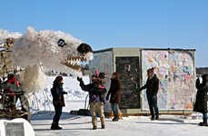 Artsy Ice Fishing Huts - The Art Shanties Projects is an Icy Outdoor Community Fair