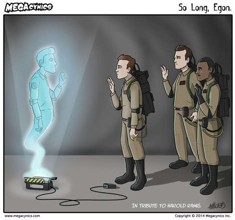 Cult Actor Comic Tributes - This Harold Ramis Tribute is Touching and Symbolic