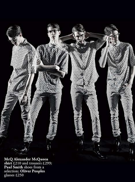 Retro Monochromatic Menswear