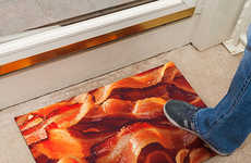 Delectable Pork Welcome Mats - Welcome People to Your Home with the Bacon Doormat