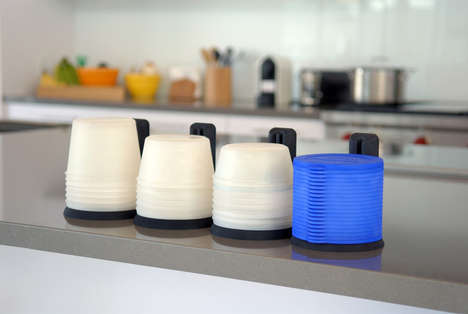 Space-Saving Food Containers - The Stackerware is a Simple Storage Container for Your Cupboard