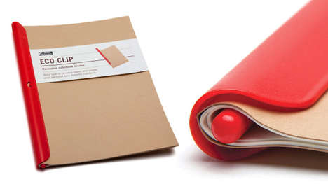Paper-Binding Notebook Clips - The Eco Clip is a Reusable Personal Notebook Binder