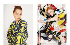 Dynamically-Posed Fashion Ads - The Celine Spring 2014 Ad Campaign Appears Makeup-Free