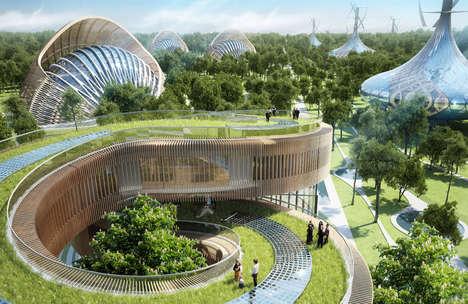 Expansive Spiraling Villa Landscapes