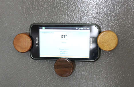 Timber-Framing Mounting Magnets - The Magwoods are Durable Wooden Magnets That Holds Your Devices