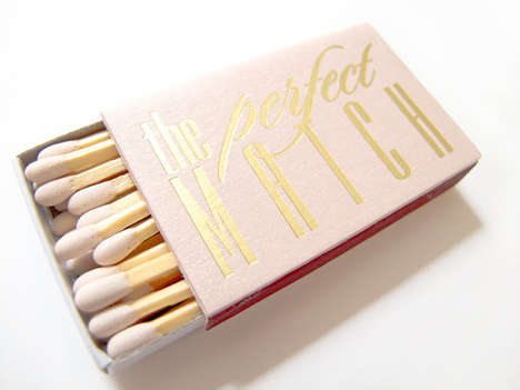 Precious Personalized Wedding Matchboxes - The Tea and Becky Wedding Matchboxes are Delicately Cute