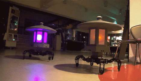 Illuminated Gardening Lamp Robots