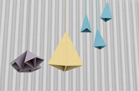 Clustered Tangram Lamps