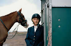 Solemn Equestrian Portraits - Jooney Woodward Stuns with Her Horse Riders Photography Series