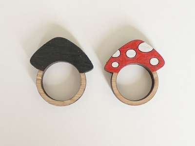 Charming Novel Wooden Rings