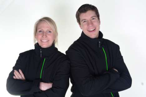 Lighted Smart Running Clothes - The Glowfaster Jacket by Simon Weatherall Monitors Progress