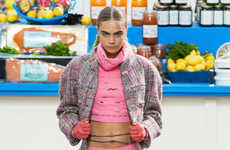 Grocery Store-Themed Runways - The Chanel Fall 2014 Fashion Show Had a Bold Grocery Store Setting