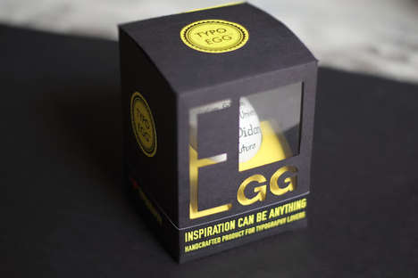 Typographical Easter Eggs - Typo Egg Packaging is a Terrifically Texty Gift for a Graphic Designer