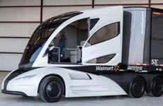 Futurisitic Aerodynamic Trucks