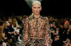 Opulent Print Apparel - This Givenchy Fall Collection Declares Luxury with Fur & Chiffon Prints