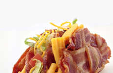 Pasta Bacon Taco Hybrids - These Indulgent Bacon Weave Taco Breaks Calorie-Topping Records