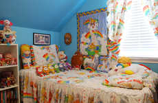 Nostalgic 80s Rainbow Rooms - This 'Rainbow Brite' Superfan Turned Her Home into a Prismatic Shrine